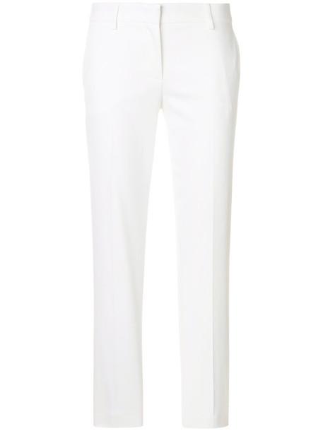Emilio Pucci pants cigarette pants women spandex white cotton