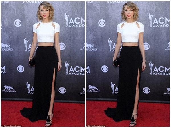 taylor swift crop tops skirt celebrity style dress