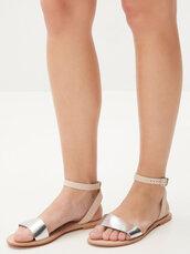 shoes,silver shoes,metallic shoes,sandals,silver flat sandals,silver low heel sandals