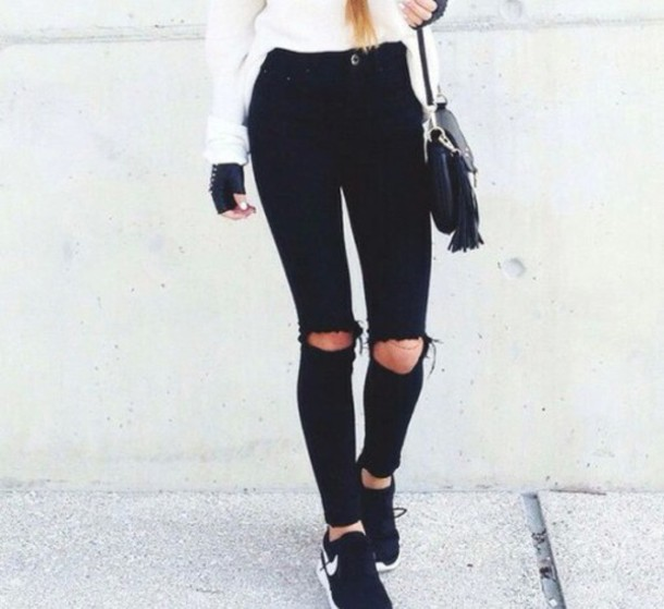 how to make ripped jeans look good