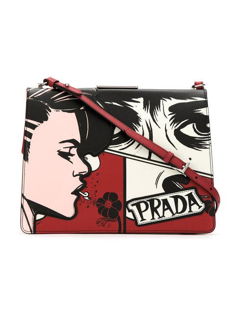 Prada Printed Crossbody Bag - Farfetch