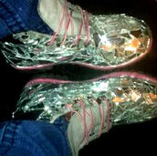 shoes,mirror,timberlands,new,hot,silver,pink
