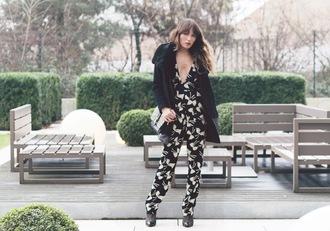 the marcy stop blogger jumpsuit black coat print