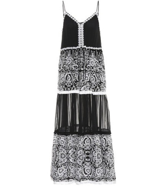 Jonathan Simkhai Embellished sleeveless dress in black