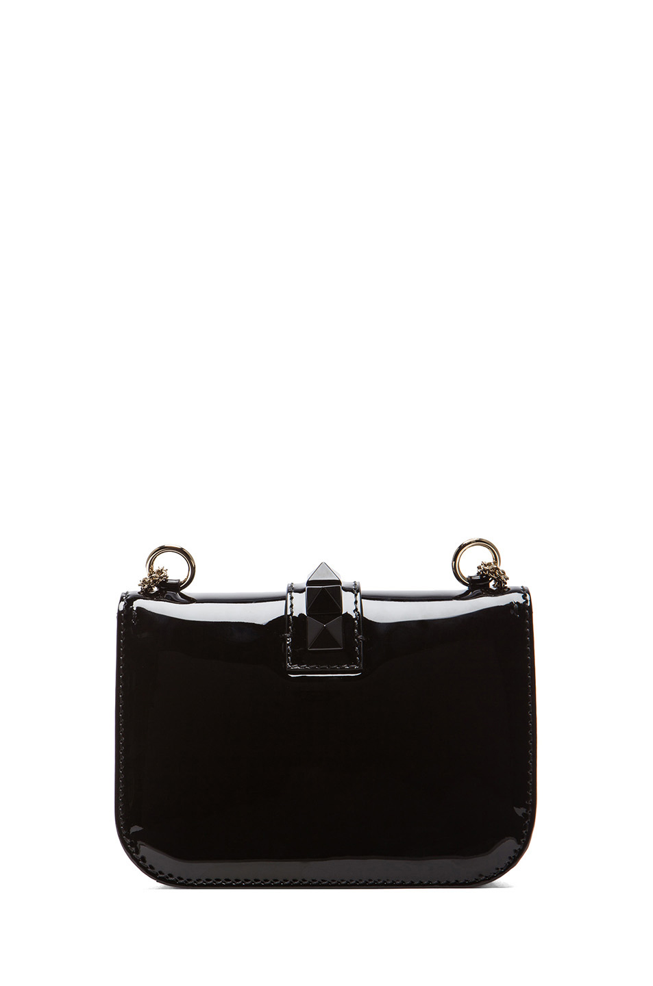 Valentino | Small Punkouture Lock Flap Bag in Black