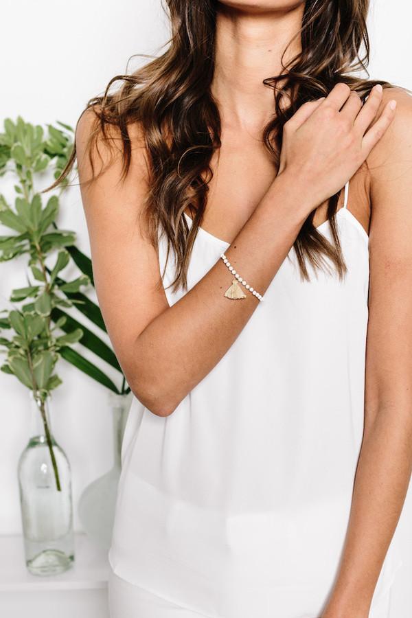 jewels tess and tricia beaded bracelet bracelets gold handcrafted tassel jewelry bracelets beaded boho bikiniluxe