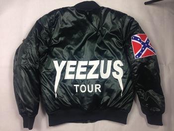 Top quality yeezus tour kanye west yeezy ma1 flight jacket coat