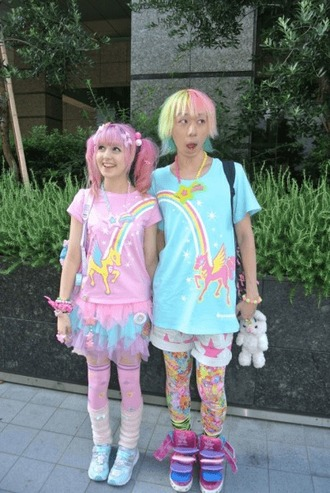 shirt shorts pastel unicorn kawaii fairy kei help me pls