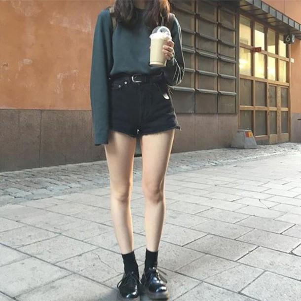 Top black black sweater sweater long sleeves long sleeve shirt turtleneck turtleneck ...