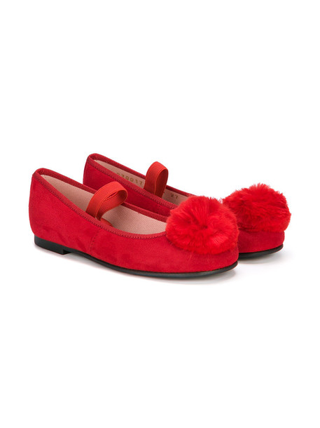 Pretty Ballerinas Kids angel leather suede red shoes