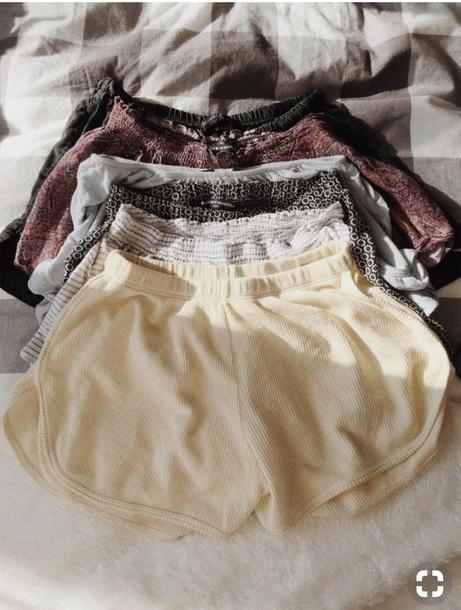 shorts yellow cute love High waisted shorts kylie jenner