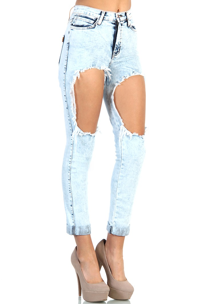 Jeans with big holes