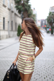 b a r t a b a c,blogger,stripes,matching set