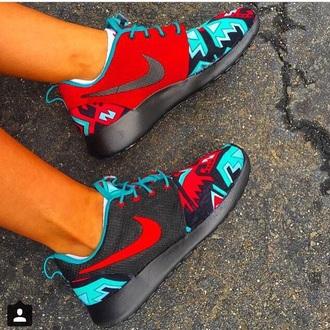 shoes nike roshe runs aztec print aztec print shoes roshe runs rosches nike shoes