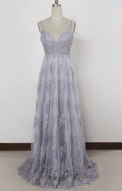 dress, lavender, lialic, lace, grad, prom, long dress, details ...