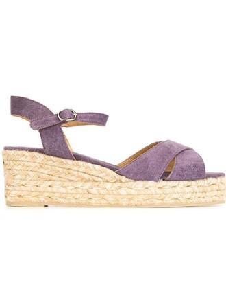 sandals platform sandals purple pink shoes