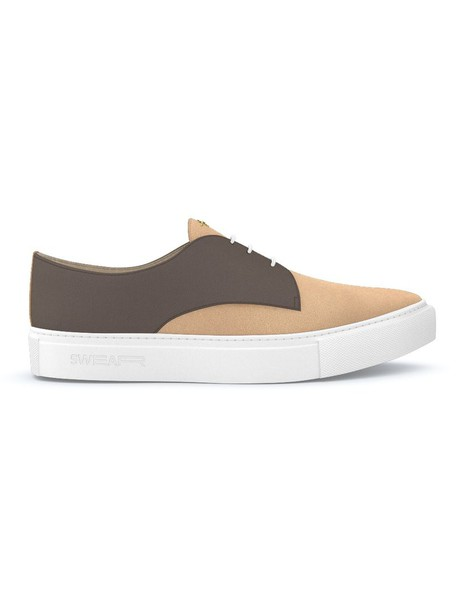 Swear - Hoxton sneakers - women - Calf Leather/Nappa Leather/Suede/rubber - 39, Brown, Calf Leather/Nappa Leather/Suede/rubber
