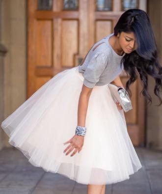 skirt top tulle skirt