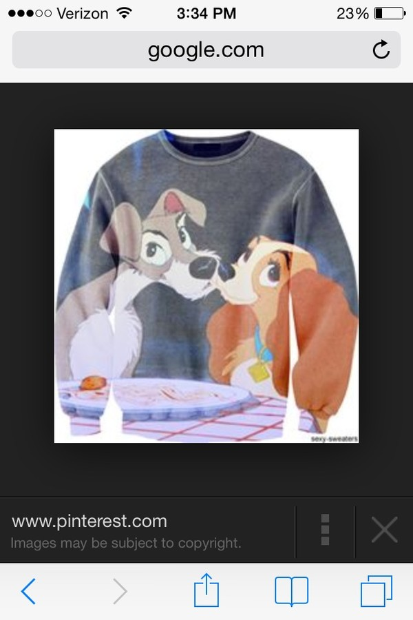 sweater lady and the tramp disney dog lady tramp crewneck