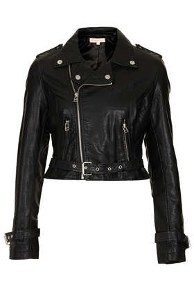 **PU Biker Jacket by Oh My Love - Clothing Brands  - Clothing  - Topshop