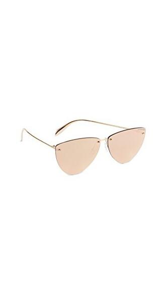 sunglasses mirrored sunglasses rose gold rose gold