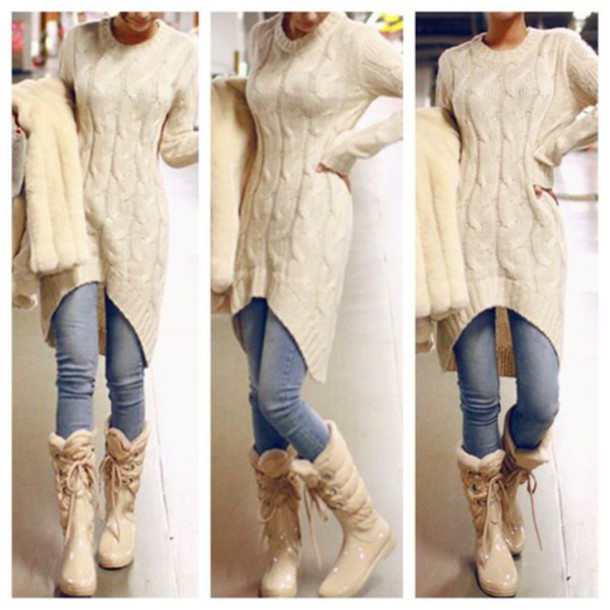clothes cute sweater beige top t,shirt oversized sweater girly kawaii beige sweater cable knit