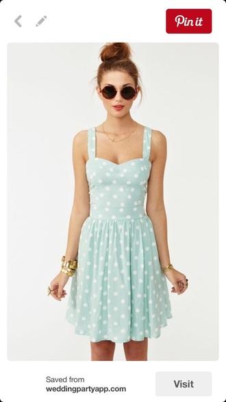 dress mint skater dress mint dress polka dots dress