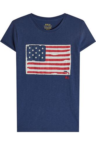 t-shirt shirt cotton t-shirt cotton blue top
