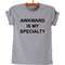 Awkward is my specialty unisex t-shirt - stylecotton
