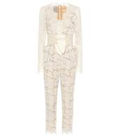 jumpsuit,pearl,lace,white
