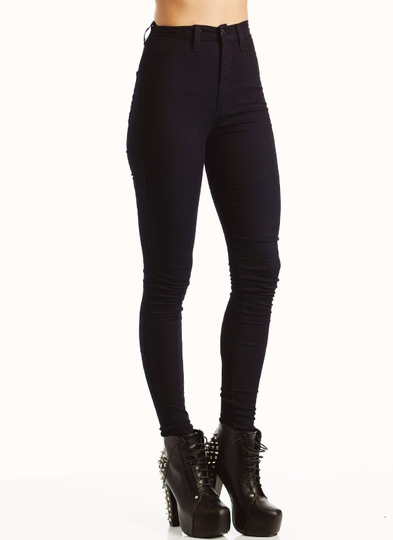high-waisted-skinny-jeans INDIGO BLACK - GoJane.com