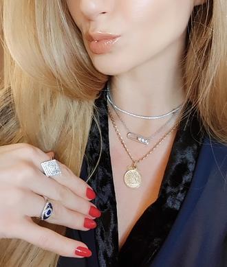 jewels tennis necklace coachella coachella outfit coachella jewellery coachella jewelry festival looks festival jewelry crystal neckalce
