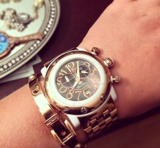 jewels gold watch