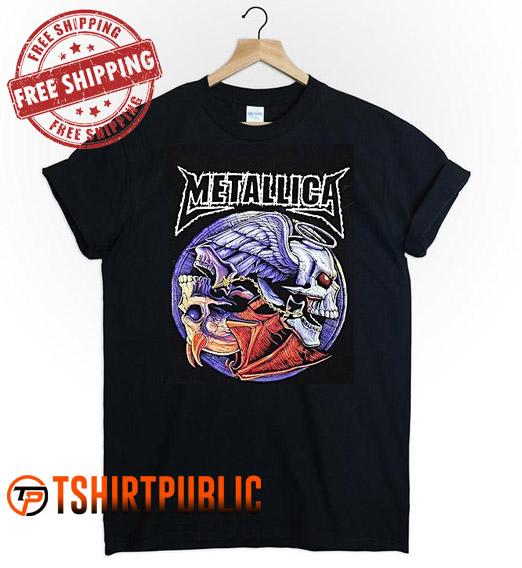 Metallica Logo T Shirt Adult Free Shipping - Cheap Graphic Tees