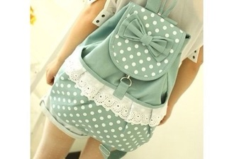 bag pastel polka dots book