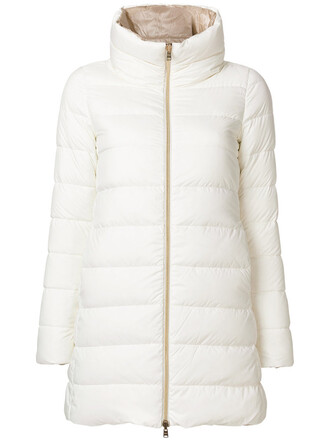 coat women white cotton