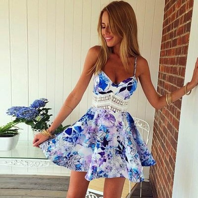 Sexy sling party dress