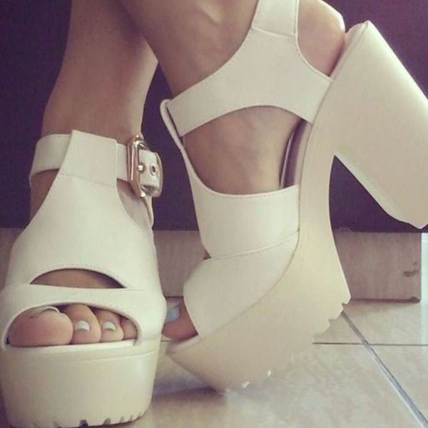 shoes heels white shoes high heels indie boho hipster summer shoes platform shoes