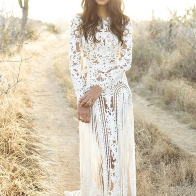 ... wedding-wedding-dress-boho-wedding-dress-bohemian-style-lace-dress