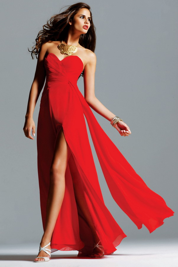 Red Strapless Tightly Ruched Faviana 6428 Long Dress Cheap Sale [Red Long Dress Cheap] - $179.00 : Prom Dresses 2014, Homecoming Dresses 2014