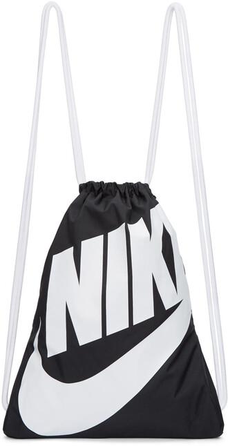 gym backpack white black black and white bag
