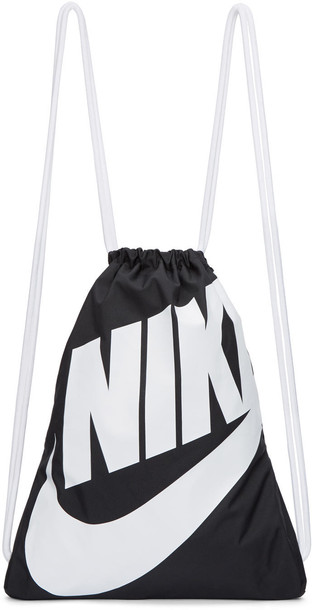Nike gym backpack white black black and white bag