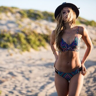 swimwear lspace bikini cheeky cheeky bikini summer 2015 wrap wrap bikini chloe wrap skimpy strappy tribal pattern tribal print navajo patterned swimwear