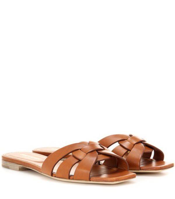 Saint Laurent Nu Pieds 05 leather sandals in brown