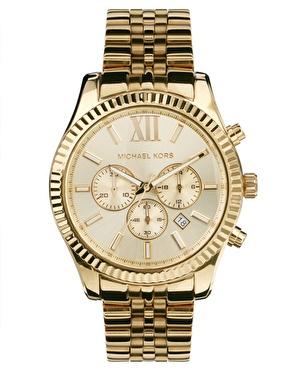 Michael Kors | Michael Kors – MK8281 – Goldene Chronographenuhr bei ASOS