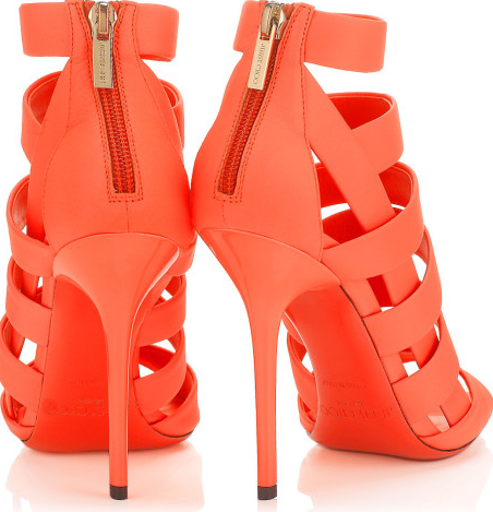 Strappy cage sandal heels