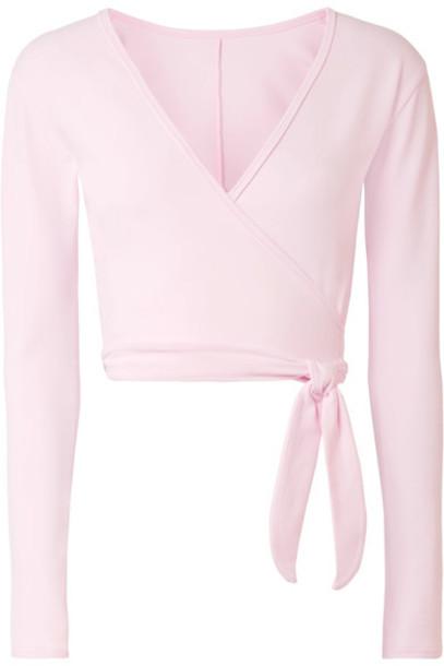 Ballet Beautiful top wrap top baby pink baby pink