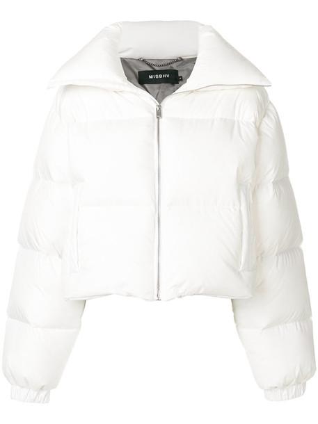 Misbhv jacket puffer jacket women white