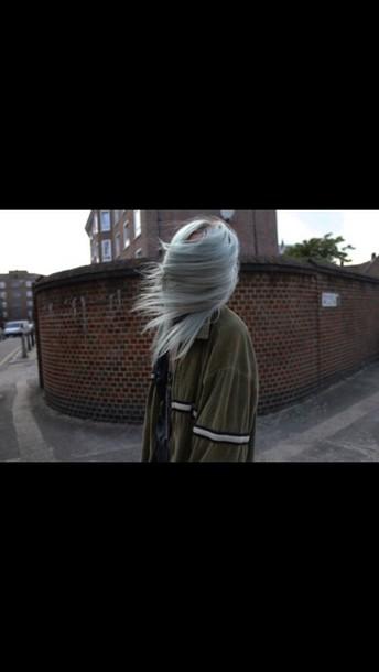 coat indie green jacket stripes style grunge