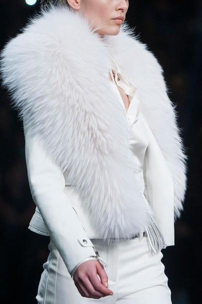 coat fur coat white fur